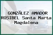 GONZÃLEZ AMADOR ROSIBEL Santa Marta Magdalena