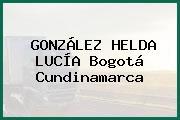 GONZÁLEZ HELDA LUCÍA Bogotá Cundinamarca