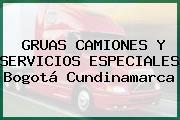GRUAS CAMIONES Y SERVICIOS ESPECIALES Bogotá Cundinamarca