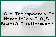 Gyc Transportes De Materiales S.A.S. Bogotá Cundinamarca