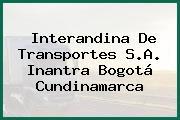 Interandina De Transportes S.A. Inantra Bogotá Cundinamarca