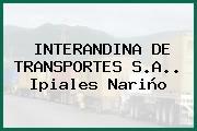 INTERANDINA DE TRANSPORTES S.A.. Ipiales Nariño