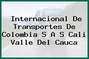 Internacional De Transportes De Colombia S A S Cali Valle Del Cauca