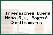 Inversiones Buena Mesa S.A. Bogotá Cundinamarca