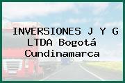 INVERSIONES J Y G LTDA Bogotá Cundinamarca