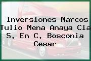 Inversiones Marcos Tulio Mena Anaya Cia S. En C. Bosconia Cesar