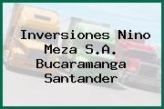 Inversiones Nino Meza S.A. Bucaramanga Santander