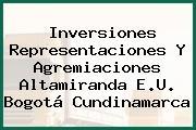Inversiones Representaciones Y Agremiaciones Altamiranda E.U. Bogotá Cundinamarca