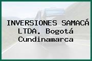 INVERSIONES SAMACÁ LTDA. Bogotá Cundinamarca