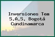 Inversiones Tem S.A.S. Bogotá Cundinamarca