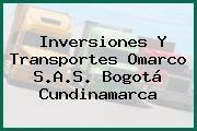 Inversiones Y Transportes Omarco S.A.S. Bogotá Cundinamarca