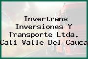 Invertrans Inversiones Y Transporte Ltda. Cali Valle Del Cauca