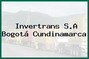 Invertrans S.A Bogotá Cundinamarca