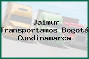 Jaimur Transportamos Bogotá Cundinamarca