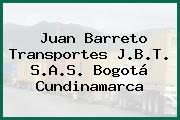 Juan Barreto Transportes J.B.T. S.A.S. Bogotá Cundinamarca