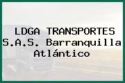LDGA TRANSPORTES S.A.S. Barranquilla Atlántico
