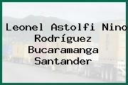 Leonel Astolfi Nino Rodríguez Bucaramanga Santander