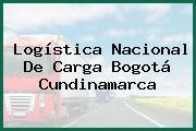 Logística Nacional De Carga Bogotá Cundinamarca
