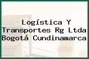 Logística Y Transportes Rg Ltda Bogotá Cundinamarca