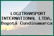 LOGITRANSPORT INTERNATIONAL LTDA. Bogotá Cundinamarca