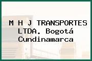 M H J TRANSPORTES LTDA. Bogotá Cundinamarca