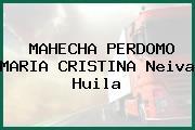 MAHECHA PERDOMO MARIA CRISTINA Neiva Huila