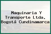 Maquinaria Y Transporte Ltda. Bogotá Cundinamarca