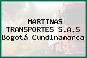 MARTINAS TRANSPORTES S.A.S Bogotá Cundinamarca