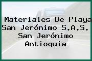 Materiales De Playa San Jerónimo S.A.S. San Jerónimo Antioquia