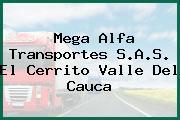 Mega Alfa Transportes S.A.S. El Cerrito Valle Del Cauca