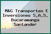 M&G Transportes E Inversiones S.A.S. Bucaramanga Santander
