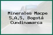 Minerales Macpe S.A.S. Bogotá Cundinamarca