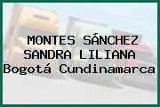 MONTES SÁNCHEZ SANDRA LILIANA Bogotá Cundinamarca