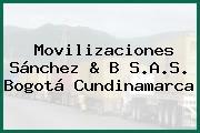 Movilizaciones Sánchez & B S.A.S. Bogotá Cundinamarca