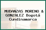 MUDANZAS MORENO & GONZALEZ Bogotá Cundinamarca