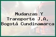 Mudanzas Y Transporte J.A. Bogotá Cundinamarca