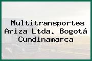 Multitransportes Ariza Ltda. Bogotá Cundinamarca