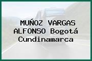 MUÑOZ VARGAS ALFONSO Bogotá Cundinamarca
