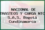 NACIONAL DE TRASTEOS Y CARGA NTC S.A.S. Bogotá Cundinamarca