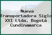 Nueva Transportadora Siglo XXI Ltda. Bogotá Cundinamarca