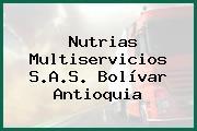 Nutrias Multiservicios S.A.S. Bolívar Antioquia