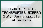 OSORIO & CÍA. TRANSPORTES SIERRA S.A. Barranquilla Atlántico