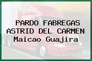 PARDO FABREGAS ASTRID DEL CARMEN Maicao Guajira