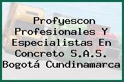 Profyescon Profesionales Y Especialistas En Concreto S.A.S. Bogotá Cundinamarca