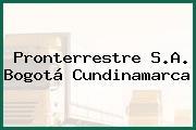 Pronterrestre S.A. Bogotá Cundinamarca
