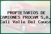 PROPIETARIOS DE CAMIONES PROCAM S.A. Cali Valle Del Cauca