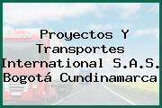 Proyectos Y Transportes International S.A.S. Bogotá Cundinamarca