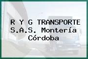 R Y G TRANSPORTE S.A.S. Montería Córdoba