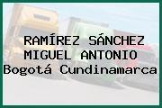 RAMÍREZ SÁNCHEZ MIGUEL ANTONIO Bogotá Cundinamarca