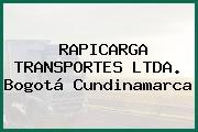 RAPICARGA TRANSPORTES LTDA. Bogotá Cundinamarca